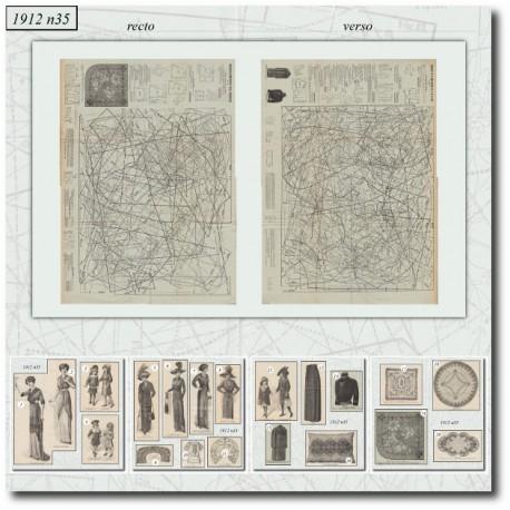 Sewing patterns La Mode Illustrée 1912 N°35