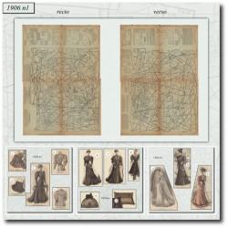 Patrons de La Mode Illustrée 1906 N°1 mariée