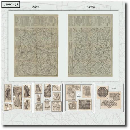 Sewing patterns La Mode Illustrée 1906 N°18