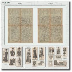 Patrons de La Mode Illustrée 1906 N°41