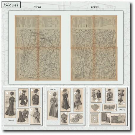 Sewing patterns La Mode Illustrée 1906 N°41