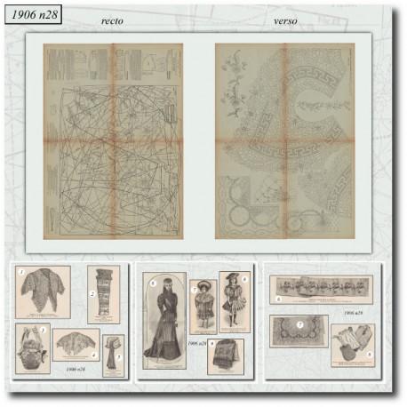 Sewing patterns La Mode Illustrée 1906 N°28