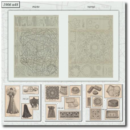Sewing patterns La Mode Illustrée 1906 N°48 works