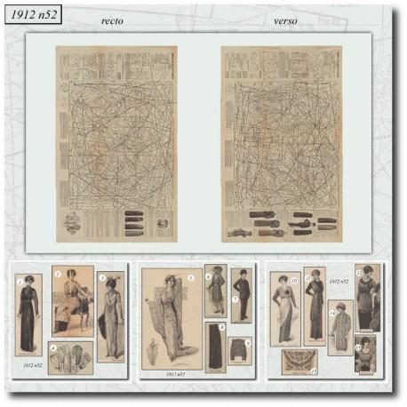 Sewing patterns La Mode Illustrée 1912 N°52
