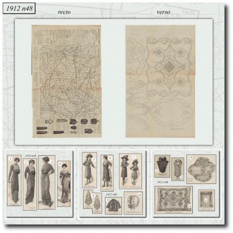 Sewing patterns La Mode Illustrée 1912 N°48