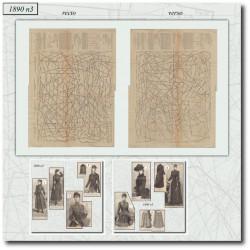 Sewing patterns La Mode Illustrée-dress-lace-blouse-coat-1890-3