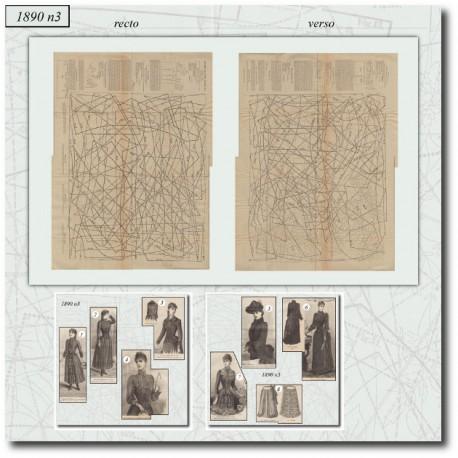 Patrons de La Mode Illustrée-robe-dentelle-corsage-veste-1890-3