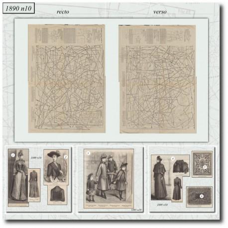 Sewing patterns La Mode Illustrée 1890 N°10