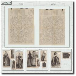 Sewing patterns La Mode Illustrée 1890 N°14
