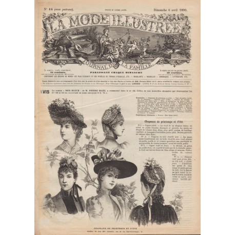 Complete magazine La Mode Illustrée 1890 N°14
