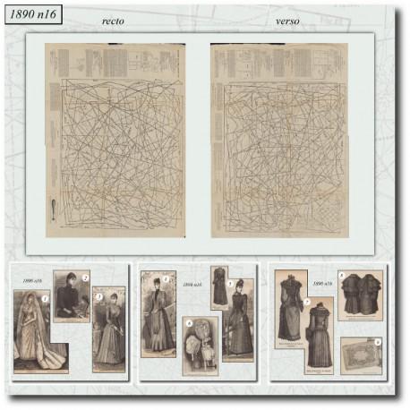Sewing patterns La Mode Illustrée 1890 N°16