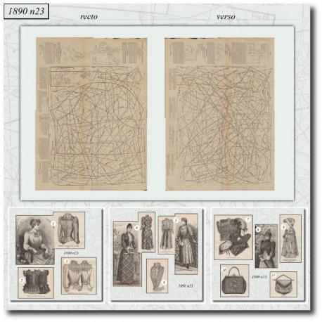 Sewing patterns La Mode Illustrée 1890 N°23