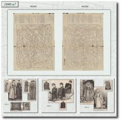Patrons de La Mode Illustrée 1890 N°7