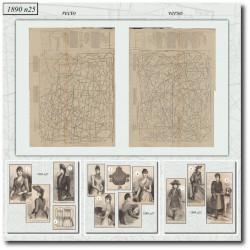 Patrons de La Mode Illustrée 1890 N°25