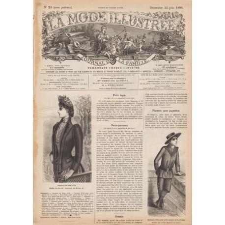 Complete magazine La Mode Illustrée 1890 N°25