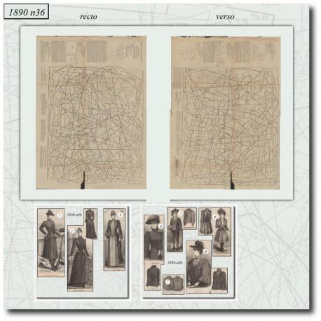 Sewing patterns La Mode Illustrée 1890-36