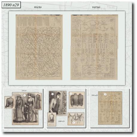 Sewing patterns La Mode Illustrée 1890 N°29
