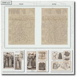 Patrons de La Mode Illustrée 1890 N°31