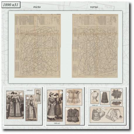 Sewing patterns La Mode Illustrée 1890 N°31