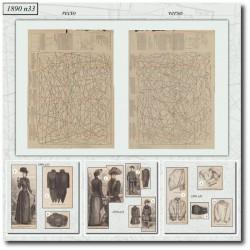 Patrons de La Mode Illustrée 1890 N°33