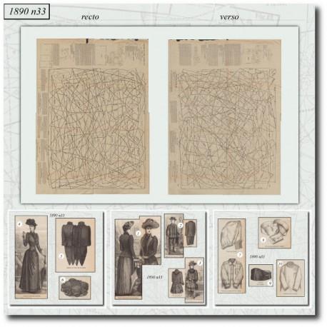 Sewing patterns La Mode Illustrée 1890 N°33