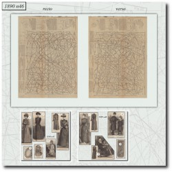 Patrons de La Mode Illustrée 1890 N°46
