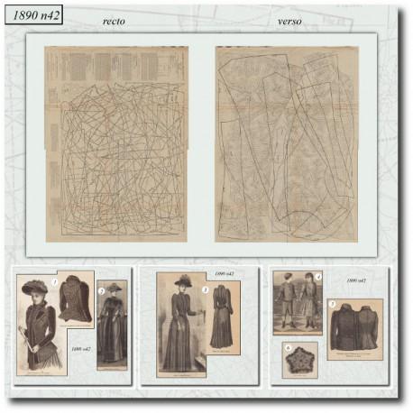 Sewing patterns La Mode Illustrée 1890 N°42