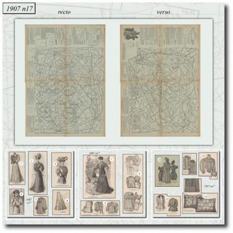 Sewing patterns La Mode Illustrée 1907 N°17