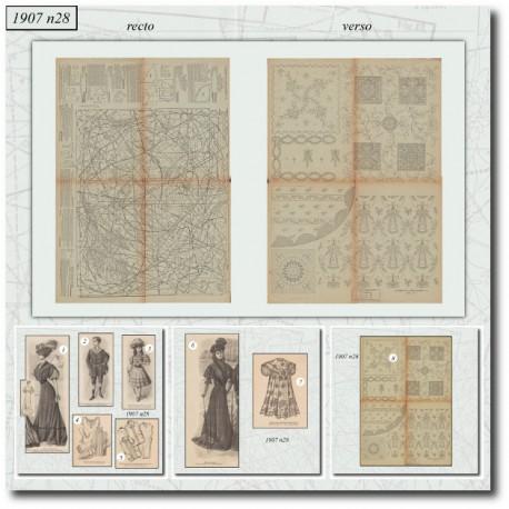 Sewing patterns La Mode Illustrée 1907 N°28