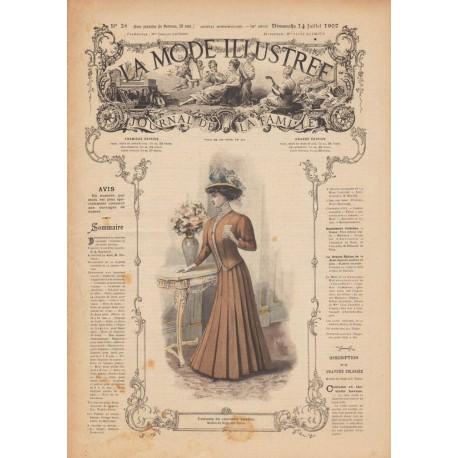 Complete magazine La Mode Illustrée 1907 N°28