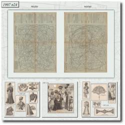 Patrons de La Mode Illustrée 1907 N°24