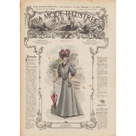 Complete magazine La Mode Illustrée 1907 N°24