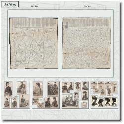 Patrons poupée de La Mode Illustrée 1870 N°01