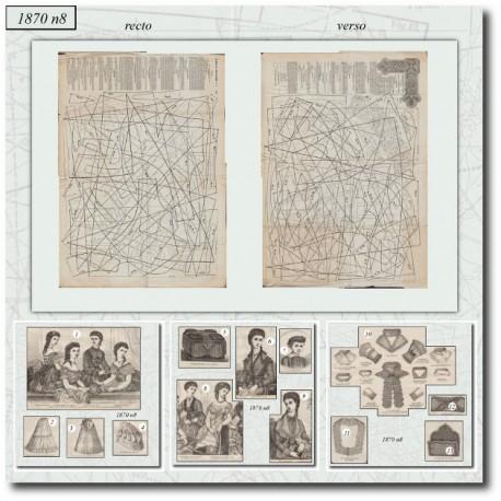 Antique sewing patterns Mode Illustrée 1870 08-old