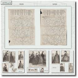 Patrons anciens de La Mode Illustrée 1870 N°14