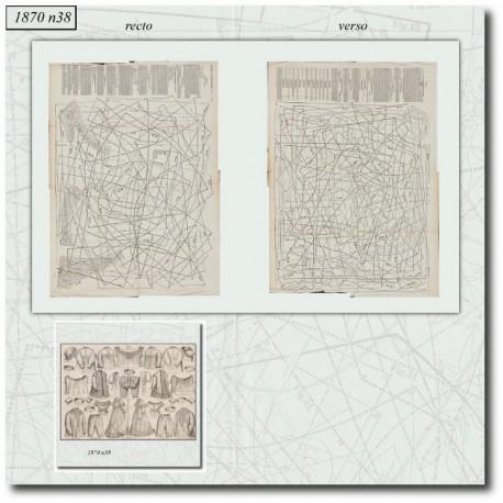 Old sewing patterns Mode Illustrée 1870 38