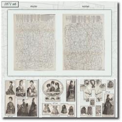 Patrons de La Mode Illustrée 1871 N°06