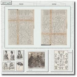 Patrons anciens de La Mode Illustrée 1871 N°24