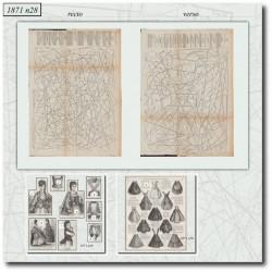Sewing patterns Mode Illustrée 1871 28