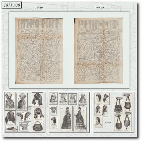 Sewing patterns Mode Illustrée 1871 30