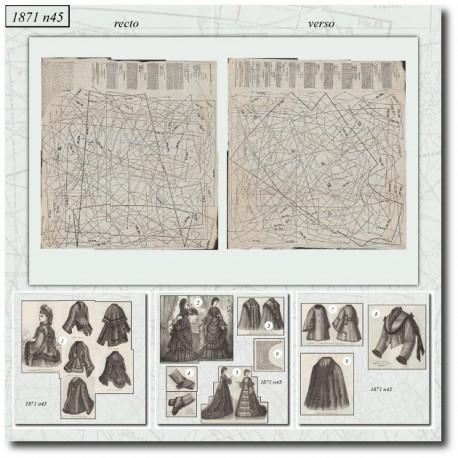 Sewing patterns Mode Illustrée 1871 45