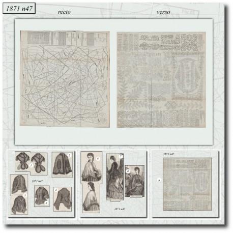 Sewing patterns Mode Illustrée 1871 47