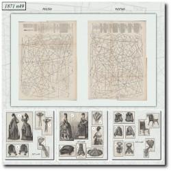 Sewing patterns Mode Illustrée 1871 49