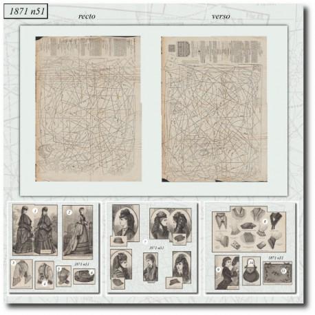 Sewing patterns Mode Illustrée 1871 51