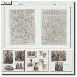 Patrons de La Mode Illustrée 1875 N°01