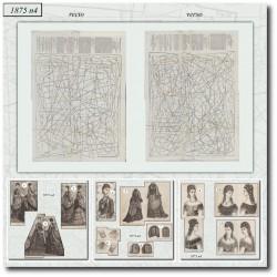 Patrons de La Mode Illustrée 1875 N°04