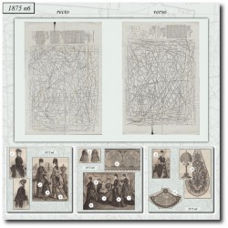 Patrons de La Mode Illustrée 1875 N°06