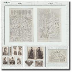 Patrons de La Mode Illustrée 1875 N°08
