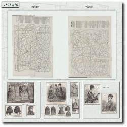 Patrons de La Mode Illustrée 1875 N°10