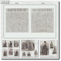 Patrons de La Mode Illustrée 1875 N°14